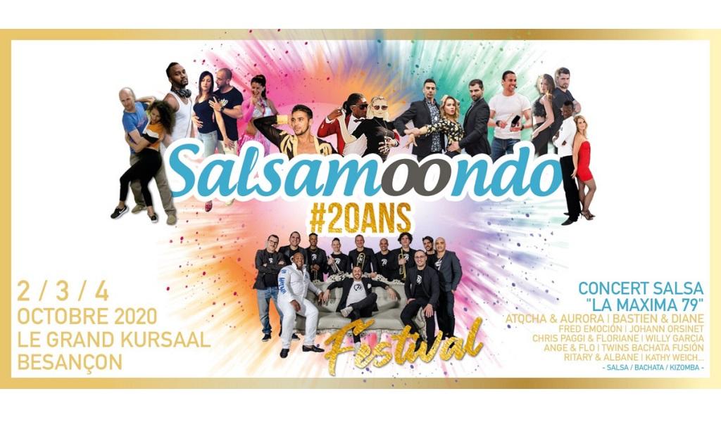 FESTIVAL SALSA #20ANS SALSAMOONDO- ANNULE ET REPORTE EN MAI 2021